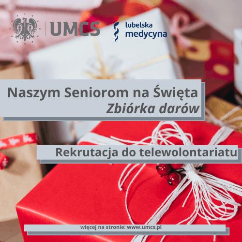 """UMCS ze zbióką """"Naszym Seniorom na Święta"""""""